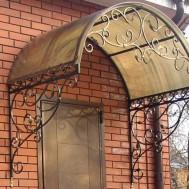 Кованые козырьки в Пинске