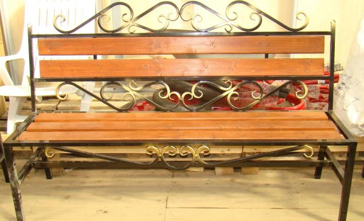 Скамейка из холодной ковки