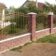 Кованый забор в Пинске